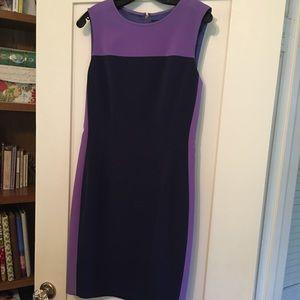 Elie Tahari dress- purple & navy.